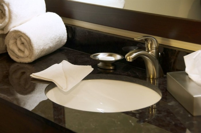 Bathroom Sink | Suites at Stratosphere Hotel, Casino & Tower, BW Premier Collection
