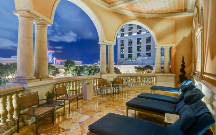 Bellagio Spa Male Patio | Suites at Bellagio