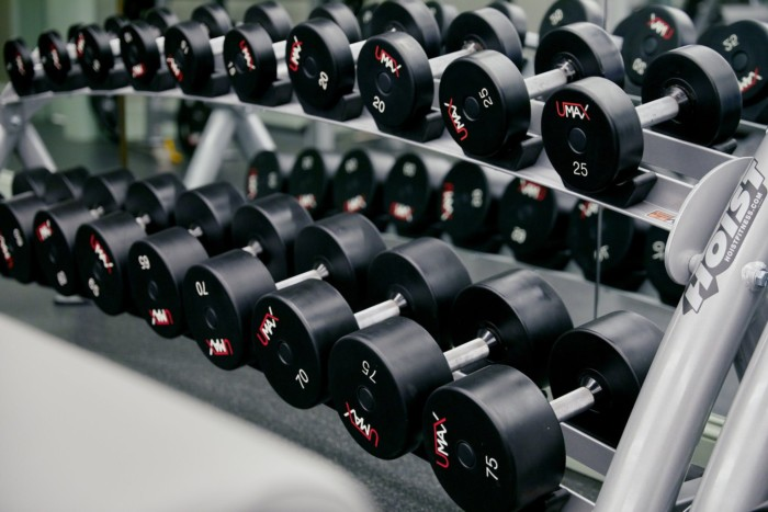 Fitness Center Weights | Suites at Park MGM Las Vegas