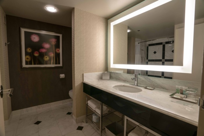 Grand Queen Bathroom | Suites at MGM Grand Hotel & Casino