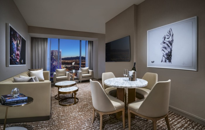 Grand Suite Living Room | Suites at The Palms Casino Resort