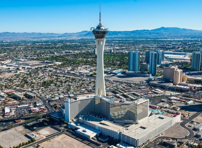 Hotel Front | Suites at Stratosphere Hotel, Casino & Tower, BW Premier Collection