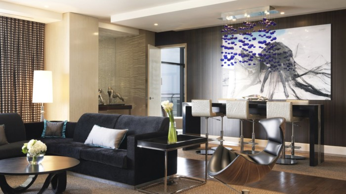 NV, the Cosmopolitan of las vegas, three bedroom west end penthouse, image of lounge