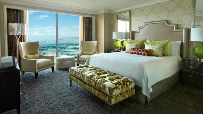Las Vegas city, Four Seasons Hotel in Las Vegas, one bedroom suite king deluxe with king bedroom