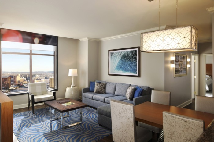 Vegas, Hilton Grand vacations on the las vegas strip, 3-bedroom 3-king-premier-suite