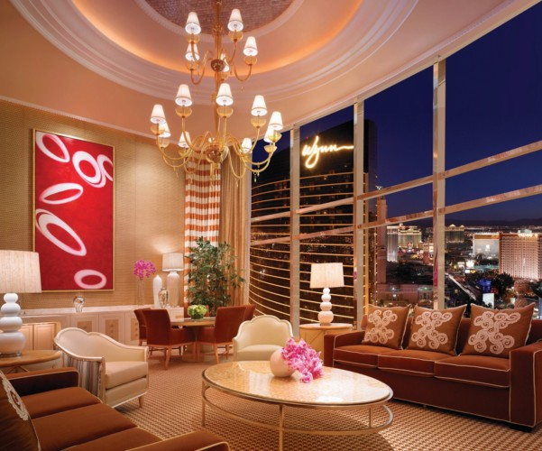 Encore at wynn las vegas, suites, three bedroom apartment, Encore 3-Bedroom Apt Living Room Strip jpg