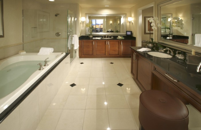 One Bedroom Suite Bathroom | Suites at The Signature at MGM Grand