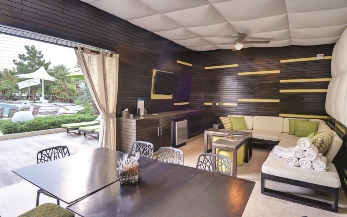 Pool Cabana Interior | Suites at ARIA Resort & Casino Las Vegas