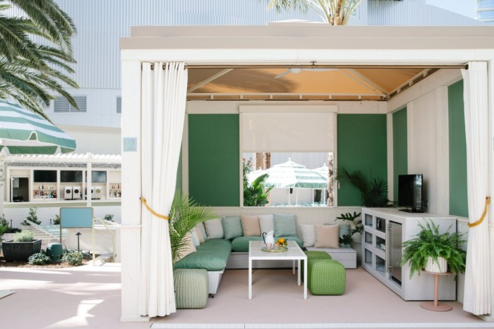 Pool Cabana Interior | Suites at Park MGM Las Vegas