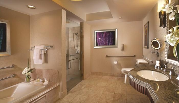 Resort Accessible Bathroom | Suites at Bellagio
