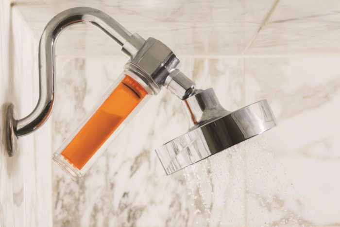 Stay Well Bathroom Infused Showerhead | Suites at Mirage Resort & Casino
